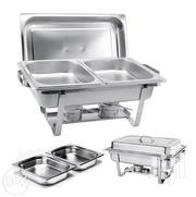 2 Pan Stainless Steel Chafing Buffet Food Warmer Serving Dish Set | Restaurant & Catering Equipment for sale in Nairobi, Nairobi Central