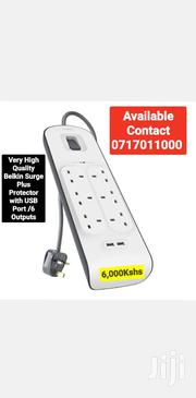 Very High Quality Belkin Surge Plus Protector With USB Port /6 Outputs | Accessories for Mobile Phones & Tablets for sale in Mombasa, Mji Wa Kale/Makadara