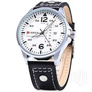 CURREN 8224 Mens Watches Military Sport Wristwatch Leather Strap Men | Watches for sale in Nairobi, Nairobi Central