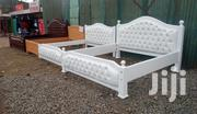 White Deep Buttoned Ready Beds | Furniture for sale in Kajiado, Ongata Rongai