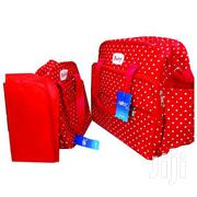Red With White Polka Dots 3 In 1 Diaper Bag Mummy Bag | Baby & Child Care for sale in Nairobi, Westlands