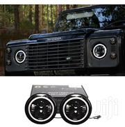 """2X Land Rover Defender 7"""" LED Upgrade Headlights With Halo DRL Rings 