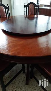 Round Table In Mvule With 7 Chairs | Furniture for sale in Mombasa, Miritini