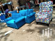 5 Seaters Chesterfield And A Wingback Chair | Furniture for sale in Nairobi, Ngara