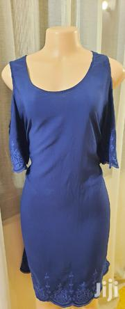 -navy Blue Knee-length Cold Shoulder Dresssize 14 | Clothing for sale in Mombasa, Mkomani