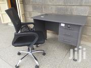 Office Desk 1meter Grey+Chair With Free Delivery | Furniture for sale in Nairobi, Nairobi West